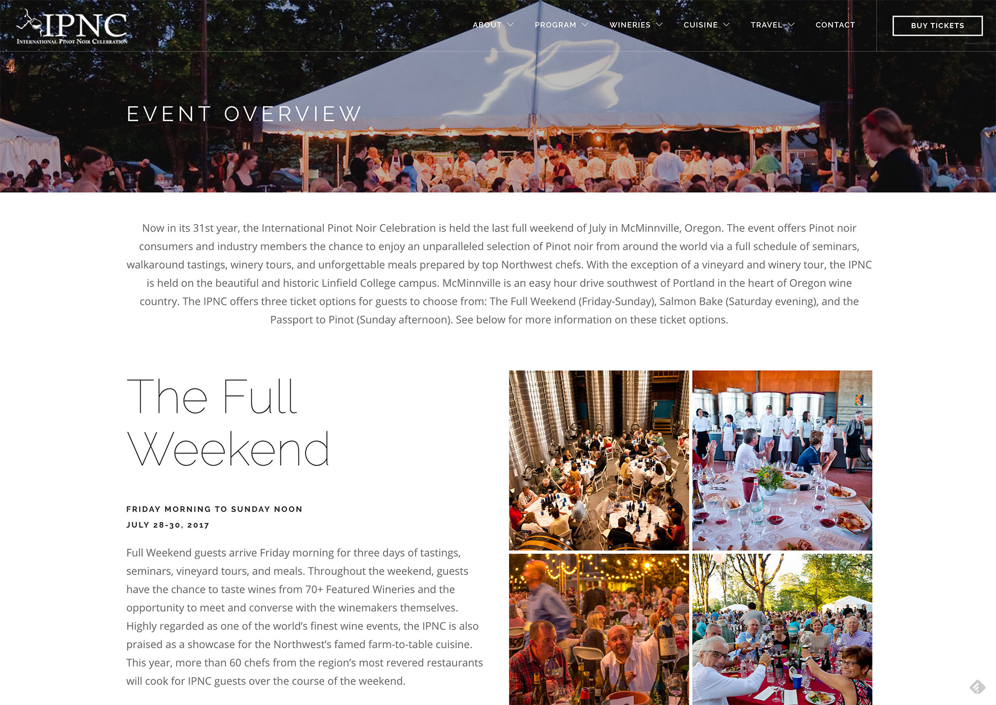 Websites for Winery Events
