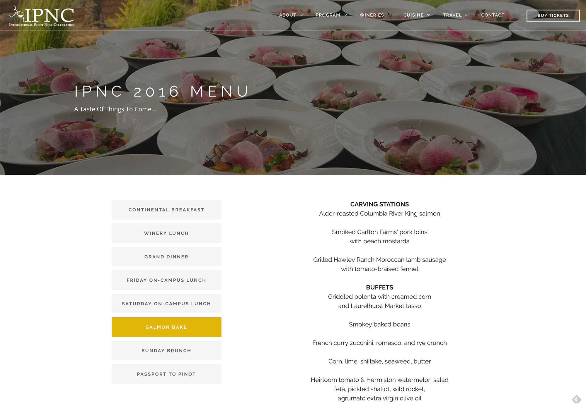 IPNC Winery Website