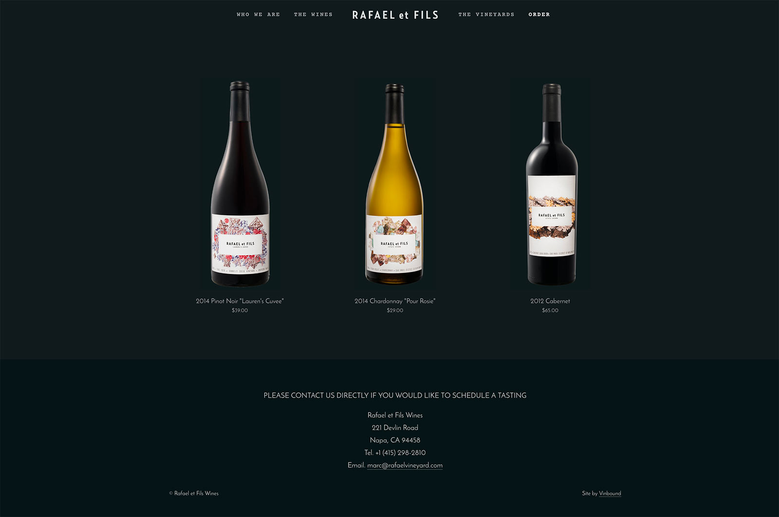 California Wine Website Designer