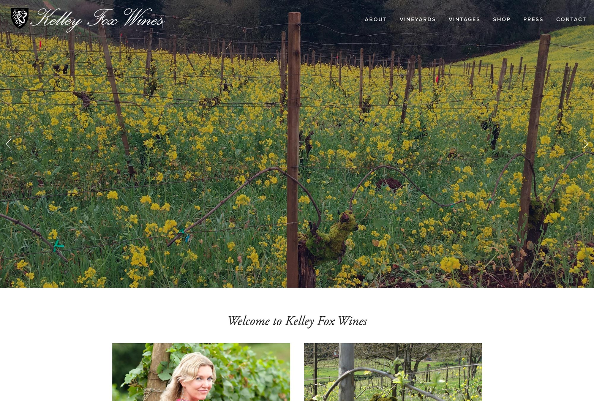 Oregon Winery Website Developer