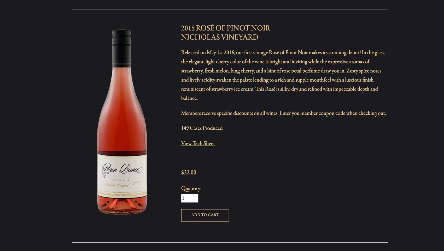Winery Website Online Store Squarespace
