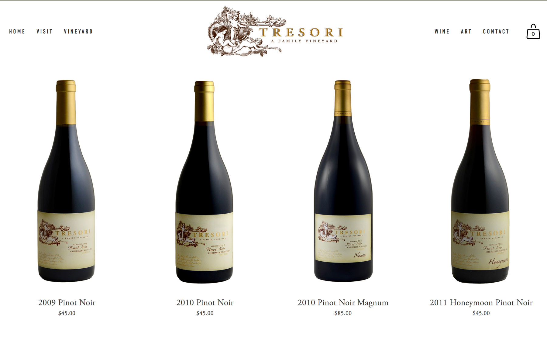 Winery Website Stores