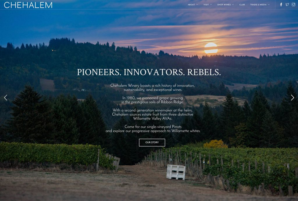 Winery Website Design Chehalem