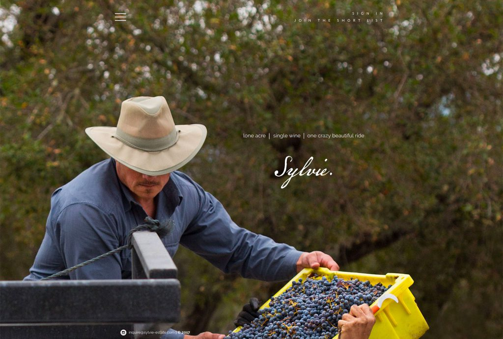 Winery Website Design Sylvie