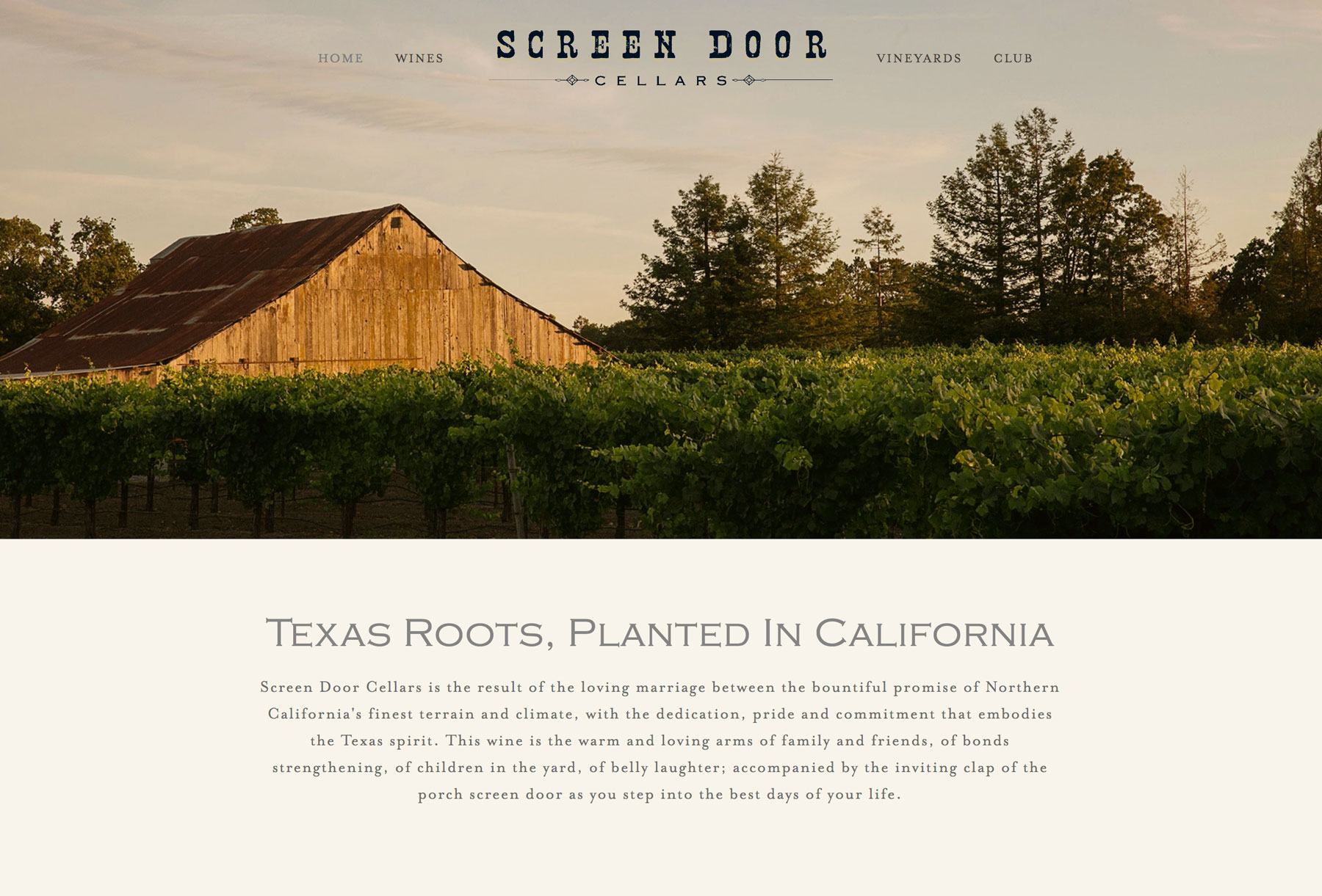 Etonnant Our Squarespace Website Package Was The Perfect Fit For Screen Door Cellars.  It Provided A Clean, Modern Canvas To Show Off The Best Winery Photos And  Tell ...
