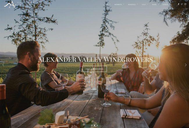 Best winery AVA DMO website example