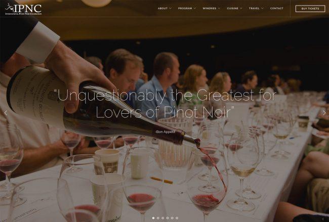 Best winery website example