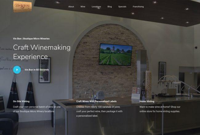 Best wine shop website example