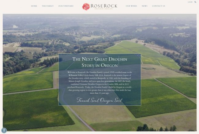 Best winery website example