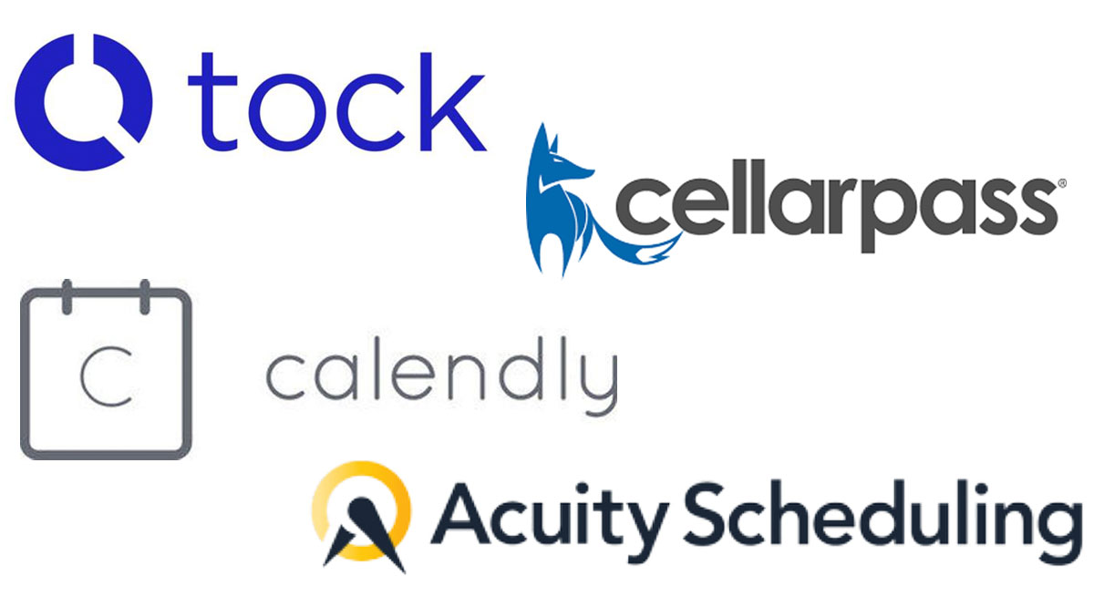 Tock, Cellarpass, Calendly, Acuity Scheduling