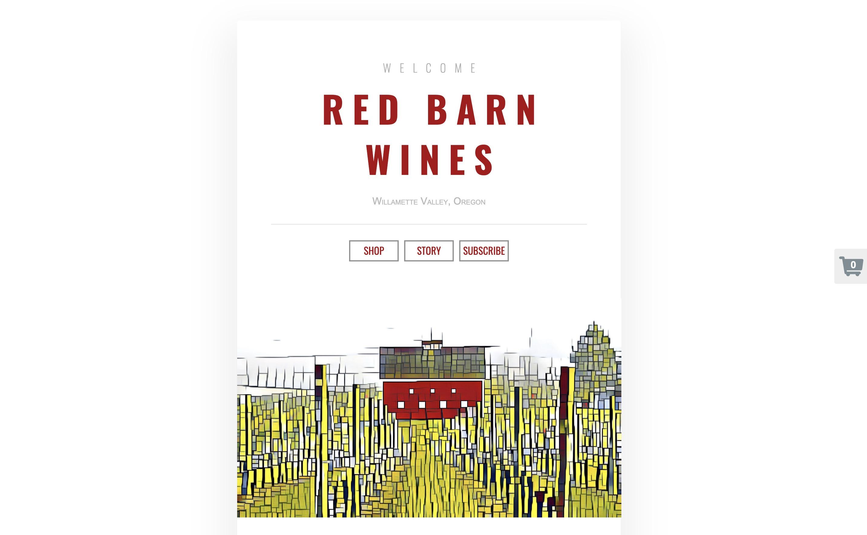Red Barn Wines microsite sample