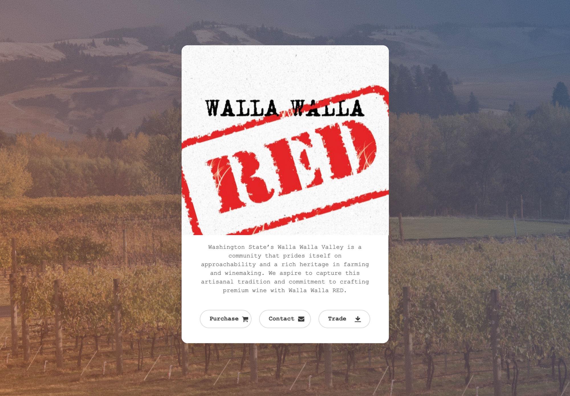 Walla Walla RED microsite example
