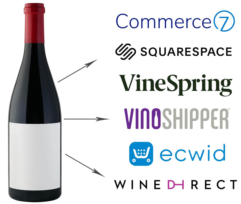 Commerce 7, Squarespace, VineSpring, VinoShipper, ECWid, Wine Direct