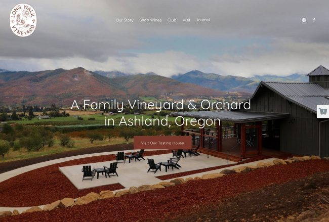Long Walk Vineyard website